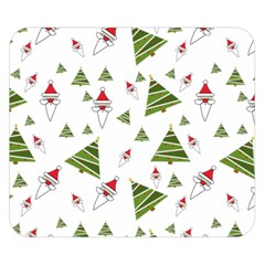 Christmas Santa Claus Decoration Double Sided Flano Blanket (small)