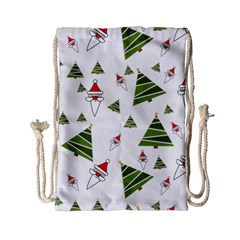 Christmas Santa Claus Decoration Drawstring Bag (small)