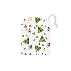 Christmas Santa Claus Decoration Drawstring Pouches (xs)