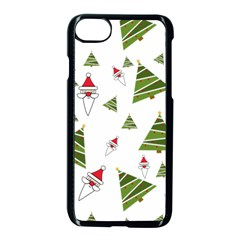 Christmas Santa Claus Decoration Apple Iphone 7 Seamless Case (black)