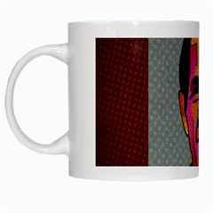George W Bush Pop Art President Usa White Mugs by BangZart