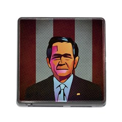 George W Bush Pop Art President Usa Memory Card Reader (square)