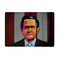 George W Bush Pop Art President Usa Apple Ipad Mini Flip Case