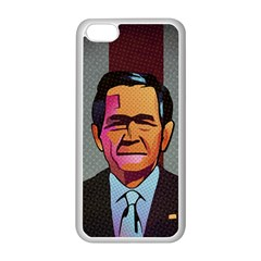 George W Bush Pop Art President Usa Apple Iphone 5c Seamless Case (white)