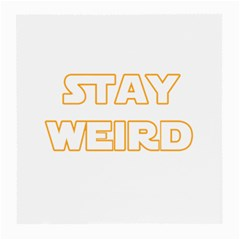 Stay Weird Medium Glasses Cloth (2 Side) by Valentinaart