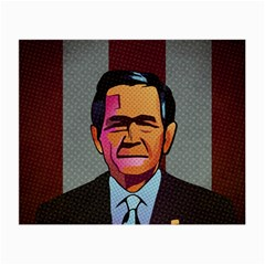George W Bush Pop Art President Usa Small Glasses Cloth (2 Side) by BangZart