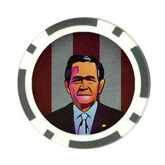 George W Bush Pop Art President Usa Poker Chip Card Guard