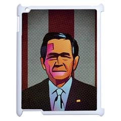 George W Bush Pop Art President Usa Apple Ipad 2 Case (white)