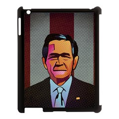 George W Bush Pop Art President Usa Apple Ipad 3/4 Case (black)