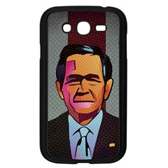 George W Bush Pop Art President Usa Samsung Galaxy Grand Duos I9082 Case (black)