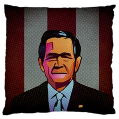George W Bush Pop Art President Usa Standard Flano Cushion Case (one Side) by BangZart