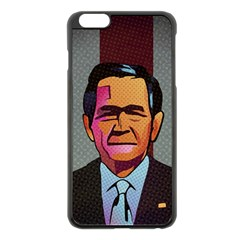 George W Bush Pop Art President Usa Apple Iphone 6 Plus/6s Plus Black Enamel Case