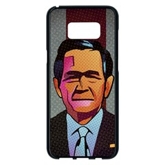 George W Bush Pop Art President Usa Samsung Galaxy S8 Plus Black Seamless Case