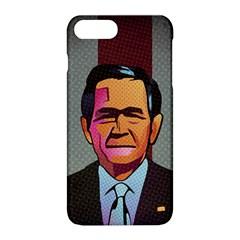 George W Bush Pop Art President Usa Apple Iphone 8 Plus Hardshell Case