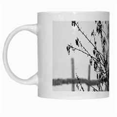 Snow Winter Cold Landscape Fence White Mugs