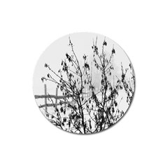 Snow Winter Cold Landscape Fence Magnet 3  (round) by BangZart