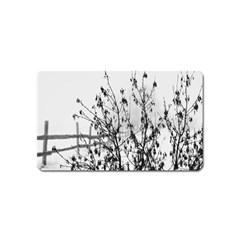 Snow Winter Cold Landscape Fence Magnet (name Card)