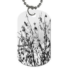 Snow Winter Cold Landscape Fence Dog Tag (two Sides)
