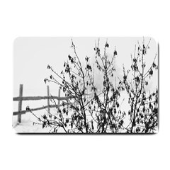 Snow Winter Cold Landscape Fence Small Doormat