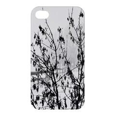 Snow Winter Cold Landscape Fence Apple Iphone 4/4s Hardshell Case