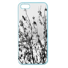 Snow Winter Cold Landscape Fence Apple Seamless Iphone 5 Case (color) by BangZart