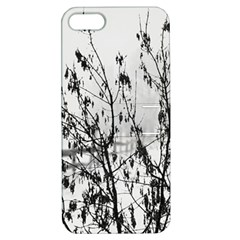 Snow Winter Cold Landscape Fence Apple Iphone 5 Hardshell Case With Stand