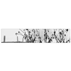 Snow Winter Cold Landscape Fence Small Flano Scarf