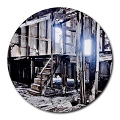 House Old Shed Decay Manufacture Round Mousepads