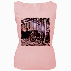 House Old Shed Decay Manufacture Women s Pink Tank Top