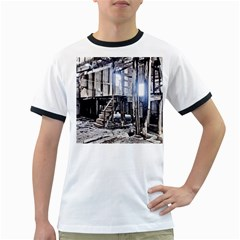 House Old Shed Decay Manufacture Ringer T Shirts