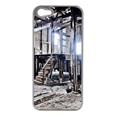 House Old Shed Decay Manufacture Apple Iphone 5 Case (silver)