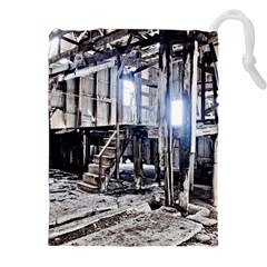 House Old Shed Decay Manufacture Drawstring Pouches (xxl)