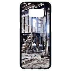 House Old Shed Decay Manufacture Samsung Galaxy S8 Black Seamless Case