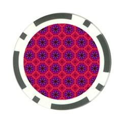 Retro Abstract Boho Unique Poker Chip Card Guard