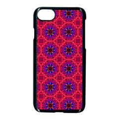 Retro Abstract Boho Unique Apple Iphone 8 Seamless Case (black)