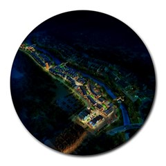 Commercial Street Night View Round Mousepads