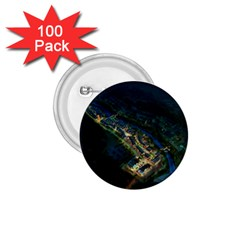 Commercial Street Night View 1 75  Buttons (100 Pack)