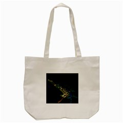 Commercial Street Night View Tote Bag (cream)