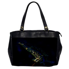 Commercial Street Night View Office Handbags
