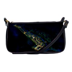 Commercial Street Night View Shoulder Clutch Bags