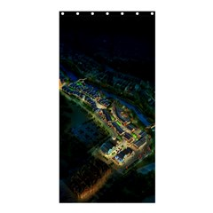 Commercial Street Night View Shower Curtain 36  X 72  (stall)