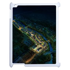 Commercial Street Night View Apple Ipad 2 Case (white)