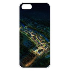 Commercial Street Night View Apple Iphone 5 Seamless Case (white)