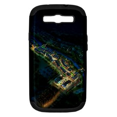 Commercial Street Night View Samsung Galaxy S Iii Hardshell Case (pc+silicone)