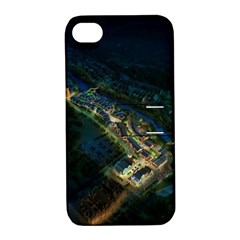Commercial Street Night View Apple Iphone 4/4s Hardshell Case With Stand