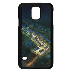 Commercial Street Night View Samsung Galaxy S5 Case (black)