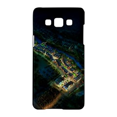 Commercial Street Night View Samsung Galaxy A5 Hardshell Case