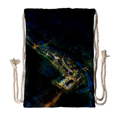 Commercial Street Night View Drawstring Bag (large)