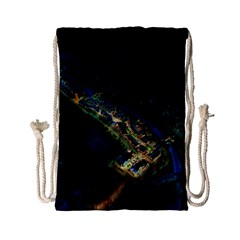 Commercial Street Night View Drawstring Bag (small)