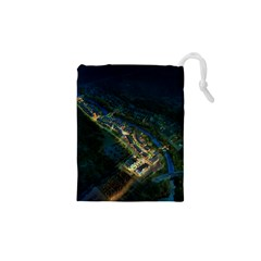 Commercial Street Night View Drawstring Pouches (xs)